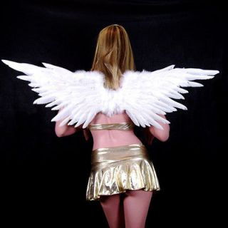 Super LARGE White Feather Angel Wings Halo costume new Halloween Party