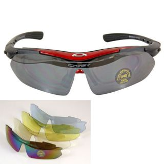 UV400 Bicycle Cycling Bike Sports Goggles Sun Glasses+5 glasses lenses