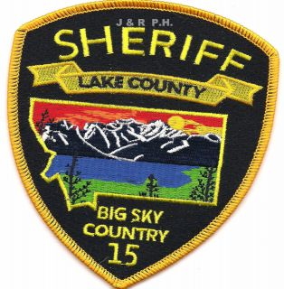 Sheriff, Montana Big Sky Country shoulder police patch (fire