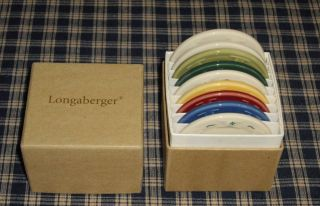 Longaberger Woven Traditions Sample Pottery Color Selector Chips set