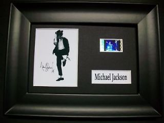 MICHAEL JACKSON Framed Movie Film Cell Memorabilia