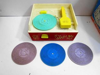 VINTAGE 1971 FISHER PRICE MUSIC BOX RECORD PLAYER NBR 995 2 OF 2