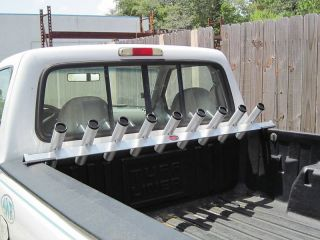 Truck Bed Rail Fishing Rod Holder All Aluminum For Small Bed Trucks