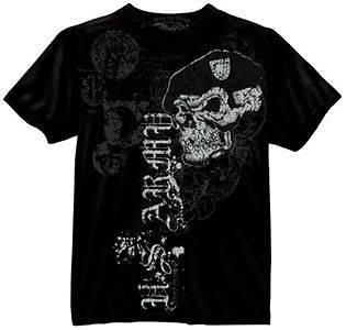 NEW Black Ink US Army Skull Beret Military Shirt CHOICE