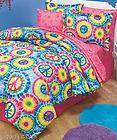 PEACE SIGN FULL/QUEEN COMFORTER SET AND/OR SHEET SET IDEAL FOR TEENS