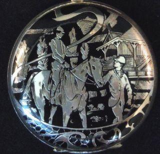 Arnex 17 Jewel 2 Diameter Sterling Silver Pocket Watch