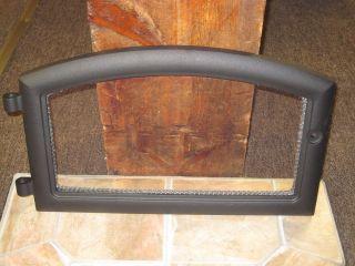QUADRA FIRE BLACK WOOD STOVE& INSERT COMPLETE DOOR WITH GLASS GASKET