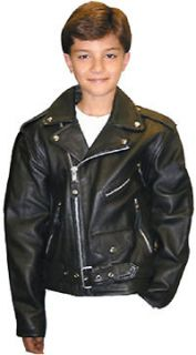 kids black leather jacket in Kids Clothing, Shoes & Accs