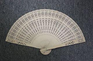 Chinese Japanese folding Fan Bamboo Hand  U.S. Seller