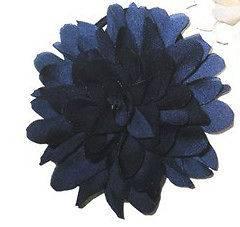 NAVY BLUE FLOWER PONEO HAIR ELASTIC BEAK CLIP FASCINATOR LADIES DAY