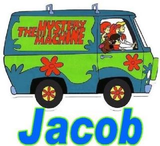 Scooby Doo Mystery Machine toddler boy girl name shirt baby one piece