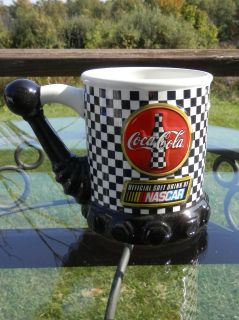 Coca Cola   NASCAR   Mug   Cup   Checkered Flag   Shifter Knob   Nice