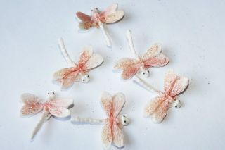 Sugar Dragon Flies glittering edible birthday christening cake cupcake