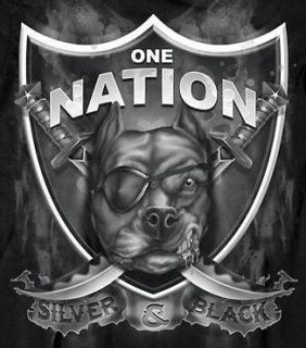 DGIT NFL OAKLAND RAIDERS ONE NATION DOG SHIRT BLACK SIZES S, M, L, XL
