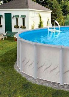 24 x 52 Round Above Ground Swimming Deluxe Pool Package   30 Year