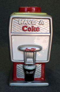 COCA COLA SODA FOUNTAIN HAVE A COKE ICE COLD COOKIE JAR HOUSTON