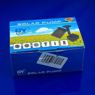 New Solar Powered Fountain Pool Water Pump Garden Watering
