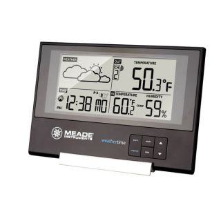 Meade Slim Line Personal Weather Station with Atomic Clock # TE346W