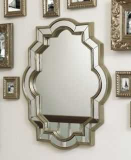 CBK LARGE SCALLOPED WALL MIRROR CHAMPAGNE FINISH