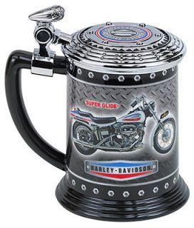 FRANKLIN MINT   Harley Davidson Super Glide Porcelain Tankard B11G415