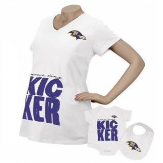 Baltimore Ravens Reebok Kicker Maternity Top & Infant 3 Piece Set