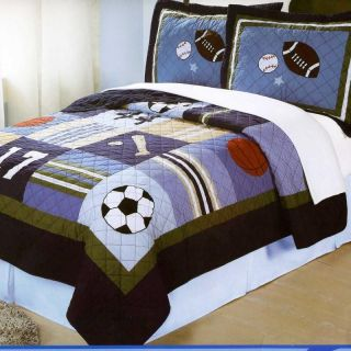 Teen boy blue camo guitar rock full comforter set 7pc bed for Guitar bedding for boys