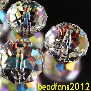 300pcs 5040 4mm Free Ship Rondelle Swarovski Crystal Beads AB Color