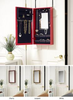 the Wall Jewelry Armoire with Mirrors in 4 Styles   Wall Mount able
