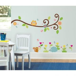 Nursery Decor Scroll Tree Branch Wall Decal Mural Peel N Stick Movable