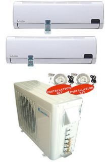 Zone Ductless Mini Split 2 X 1200 BTU Dual Heat Pump Air Conditioner