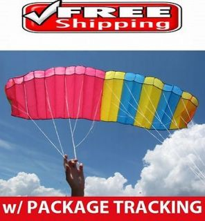 HUGE DUAL LINE PARAFOIL POWER STUNT SPORT KITE OUTDOOR TOY DE