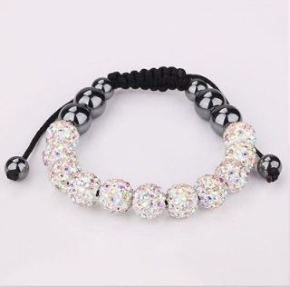 10MM clay Czech crystal shamballa friendship bracelets+gift box M925