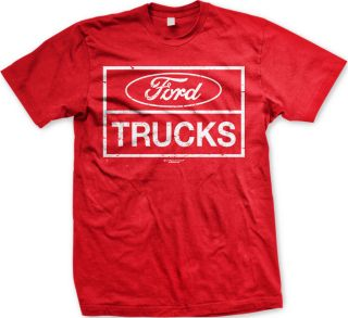 Ford Trucks Mens T shirt Motor Company Automobile Car Mustang Muscle F
