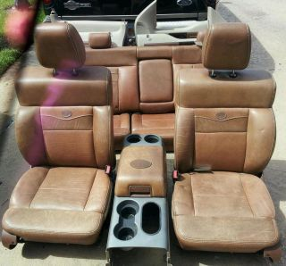 04 08 f150 king ranch leather interior saddle leather in