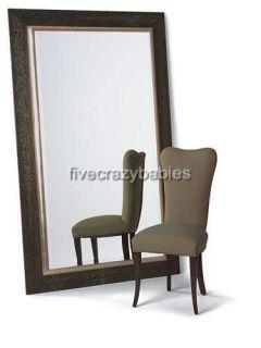 Wall Mirror Oversize Dark Wood XL Mahogany Full Length Floor Leaner