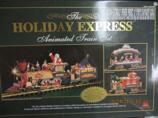 new bright holiday express train set in G Scale