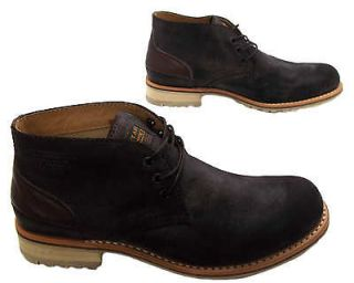 STAR RAW STATION SUEDE MENS DARK BROWN LACE UP DESERT ANKLE BOOTS