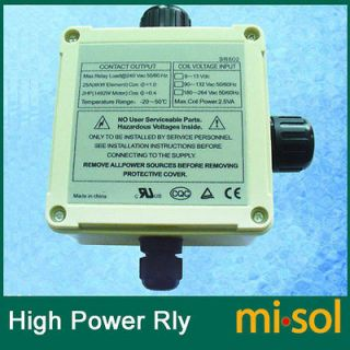 power relay 220V for electrical heating for solar water heater system