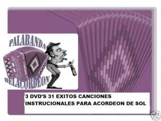 GABBANELLI O HOHNER SOL CANCIONES EN SOL 3 DVDS SUPER EXITOS, FREE