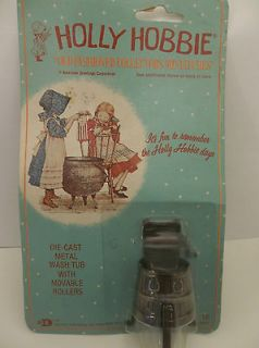 Holly Hobbie Die Cast METAL WASH TUB WITH MOVABLE ROLLERS Miniature