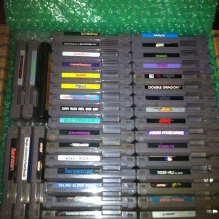 40 Game Nintendo Lot, NES, Super Mario, Double Dragon, TMNT, Pitfall