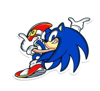 Sonic The Hedgehog Window Bike Motorcycle Car Bumper Decal Sticker J88