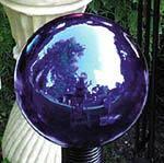 BLUE GLASS GARDEN GAZING GLOBE BALL EV8400