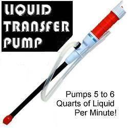 LIQUID TRANSFER PUMP Battery Power SIPHON GAS OIL WATER