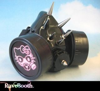 Hello Kitty LED Gas Mask Raver Cyber Goth Clothing WOW