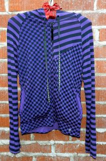 The Wall   Size S   Purple & Black Skate Hoodie   FREE 1 DAY SHIPPING