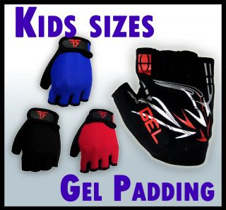 Junior gel padded cycling gloves – bike riding kids children youth