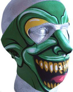 Green Goblin Neoprene Motorcycle Biker Face Mask for open face helmet