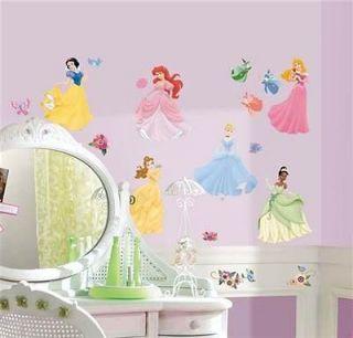Disney Princess 37 Wall Stickers Gems Decals Ariel Cinderella Belle