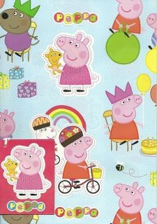 Licensed Character Gift Wrap Under One Listing Peppa Pig, Hello Kitty